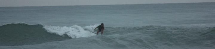 Kyler surf Santa Teresa panorama