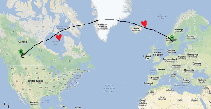 Oslo Edmonton map