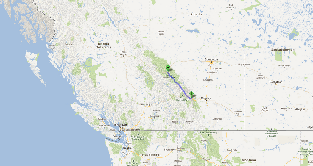 Similiar Icefields Parkway Map Keywords