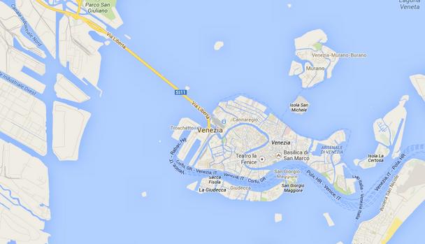 1. Venice map